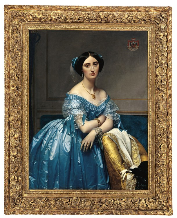 The Princesse de Broglie, Oil on Canvas, Metropolitan Museum, New York, Jean-Auguste-Dominique Ingres, 1851-53.