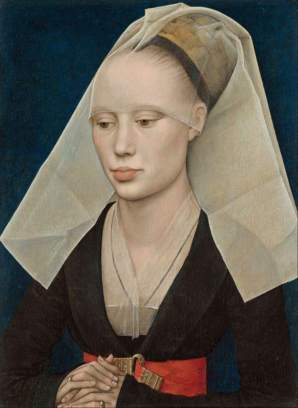 Portrait of a Lady, Oil on Wood Panel, National Gallery of Art, Washington DC, Rogier van der Weyden, 1460.