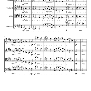 String Serenade, 2nd Movement