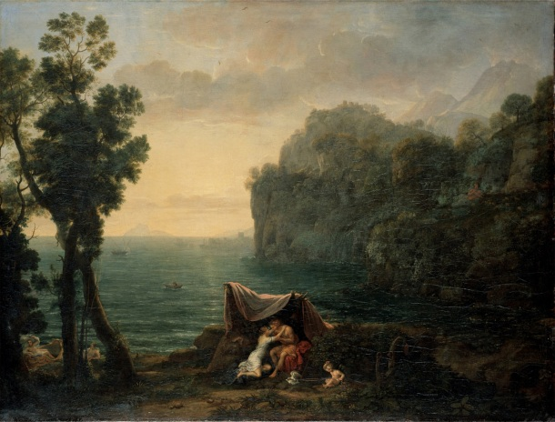 Coastal landscape with Acis and Galatea by Claude Lorrain (1657).