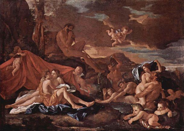 Acis and Galatea by Nicolas Poussin (circa 1629-1630).