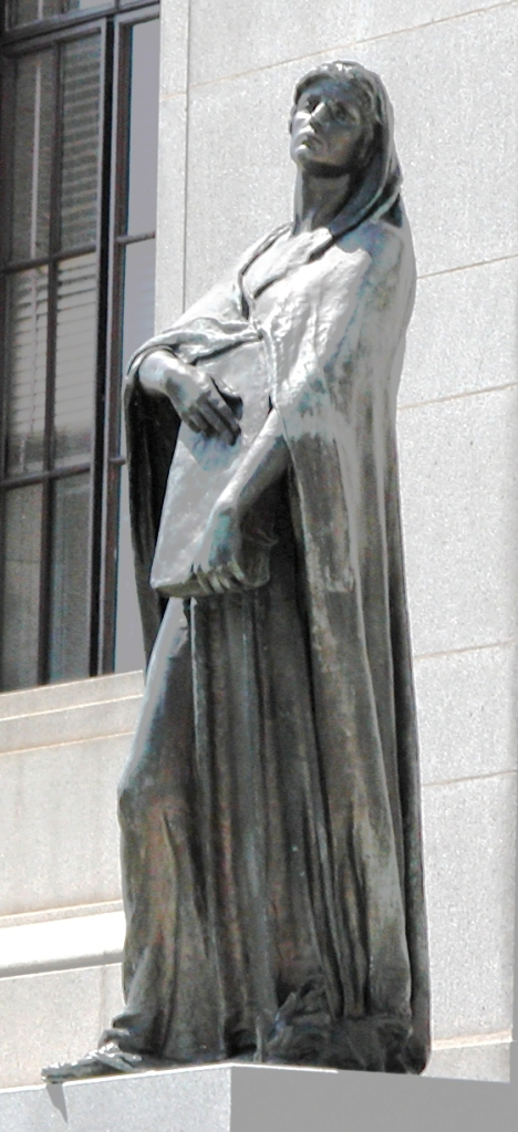 Statue of Truth Before the Canadian Supreme Court.