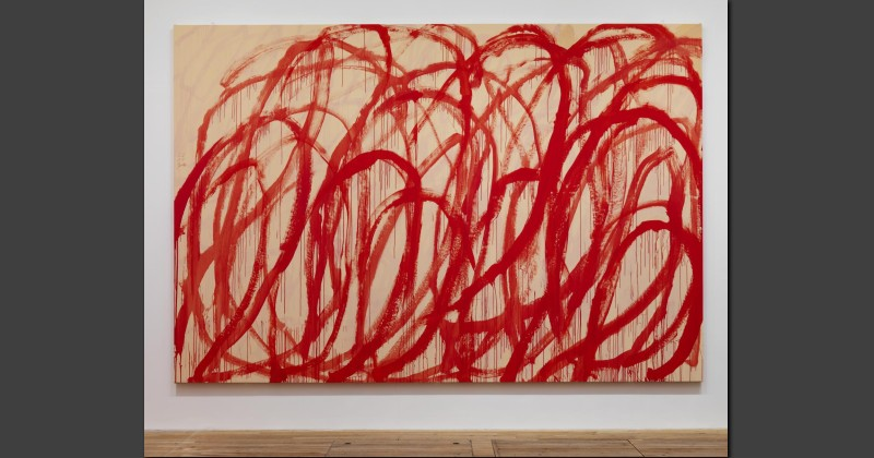 Untitled, Oil on Canvas, Cy Twombly, Tate Modern, 2008.