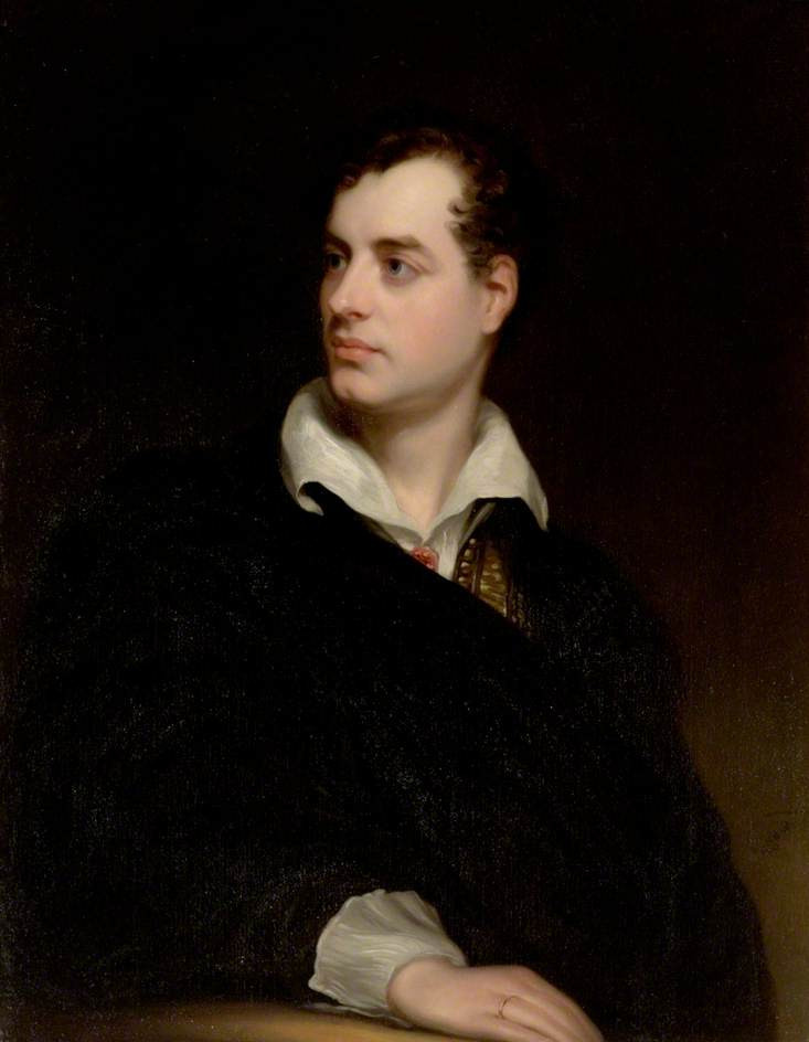 Portrait of Lord Byron by Thomas Phillips.